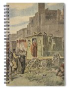 Hungarian Gypsies Outside Carcassonne Spiral Notebook