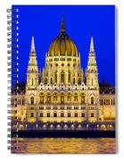 Hungarian Parliament At Twilight Spiral Notebook