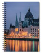 Hungarian Parliament Dawn Spiral Notebook