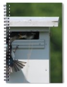 Hungry Nestling. Spiral Notebook
