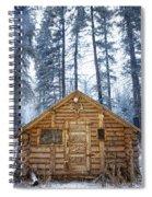 Hunting Cabin In Alberta Spiral Notebook