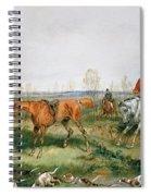 Hunting Scene Spiral Notebook