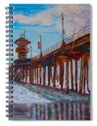 Huntington Beach Pier 2 Spiral Notebook