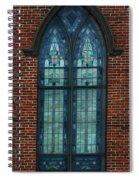 Stained Glass Arch Window Spiral Notebook