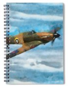 Hurricane Fighter Watercolour Spiral Notebook