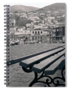 Hydra Black And White Spiral Notebook