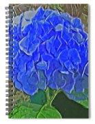 Hydrangea Blues Spiral Notebook