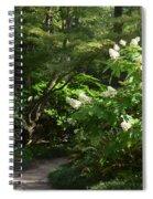 Hydrangea Path Spiral Notebook