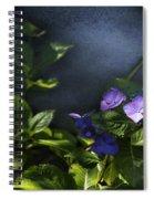 Hydrangea Violet-blue Spiral Notebook