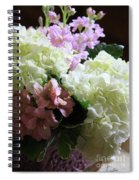 Hydrangeas Bouquet Spiral Notebook