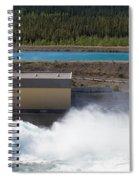 Hydro Power Station Dam Open Gate Spillway Water Spiral Notebook