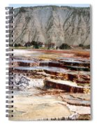 Hymen Terrace Yellowstone National Park Spiral Notebook