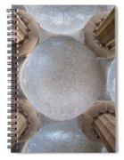 Hypostyle Room Ceiling In Park Guell Spiral Notebook