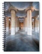 Hypostyle Room In Park Guell Spiral Notebook