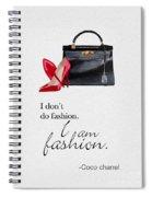 I Am Fashion Spiral Notebook