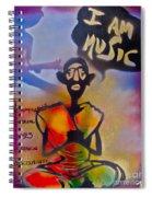 I Am Music #1 Spiral Notebook