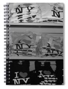 I Heart Ny In Black And White Spiral Notebook