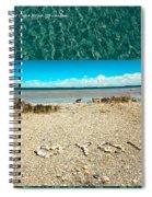 I Heart You Shores Of Lake Michigan Spiral Notebook