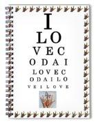I Love Coda Eye Chart Spiral Notebook