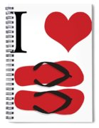 I Love Flip Flops Spiral Notebook