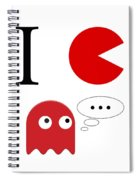 I Love Packman Spiral Notebook