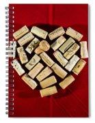 I Love Red Wine - Vertical Spiral Notebook