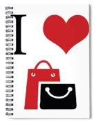 I Love Shopping Spiral Notebook