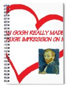 I Love Van Gogh Spiral Notebook
