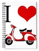 I Love Vespa Spiral Notebook