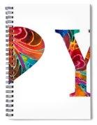 I Love You 17 - Heart Hearts Romantic Art Spiral Notebook