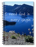 I Need God Spiral Notebook