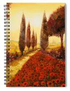 I Papaveri In Estate Spiral Notebook