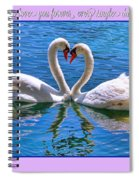 I Promise To Love You Poster By Diana Sainz Spiral Notebook