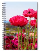 I Sea The Sea - Ranunculus Flowers By Diana Sainz Spiral Notebook