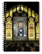 I Stand At The Door And Knock Composite Spiral Notebook