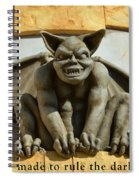 I Was Made To Rule Gargoyle Santa Cruz California Spiral Notebook