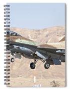 Iaf F-16c Jet Fighter Spiral Notebook