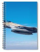 Iaf Fighter Jet F-15i In Flight Spiral Notebook