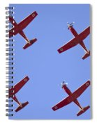 Iaf Flight Academy Aerobatics Team 4 Spiral Notebook