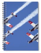 Iaf Flight Academy Aerobatics Team 6 Spiral Notebook