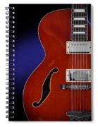 Ibanez Af75 Hollowbody Electric Guitar Front View Spiral Notebook