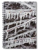 Ice Abstract 2 Spiral Notebook