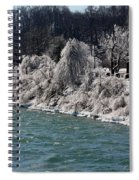 Ice Along The River Spiral Notebook