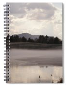 Ice And Fog Spiral Notebook