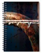 Ice And Rust Spiral Notebook