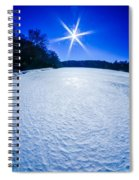Ice And Snow Frozen Over Lake On Sunny Day Spiral Notebook