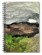 Ice Cave At The Mountains Spiral Notebook