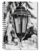 Ice Covered Lantern Spiral Notebook