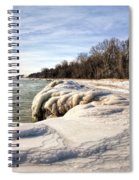Ice Covered Shores Of Lake Michigan Spiral Notebook