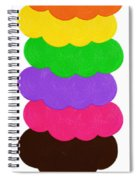 Ice Cream Shop 6 Scoops - Panorama Spiral Notebook